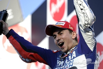 Race winner Jorge Lorenzo