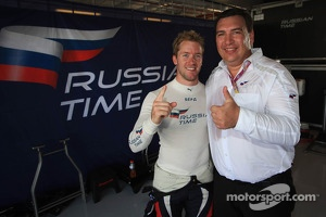 Sam Bird celebrates Russian Time's team championship