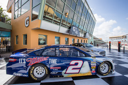 Car of Brad Keselowski, Penske Racing Ford on display