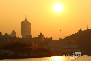 Macao at the sunset
