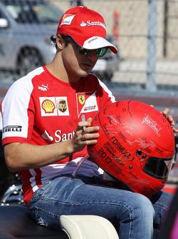 Felipe Massa, Ferrari on the drivers parade