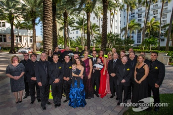 NASCAR Camping World Truck Series champion driver Matt Crafton with his team