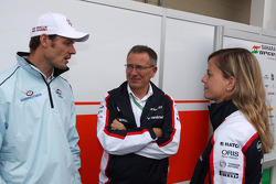 Alex Wurz, Williams Driver Mentor, with Susie Wolff, Williams Development Driver