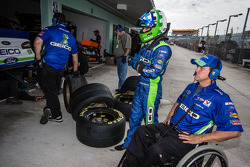 Casey Mears, Germain Racing Ford with crew chief Bootie Barker