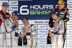 Race winners Anthony Davidson, Sebastien Buemi, Stéphane Sarrazin