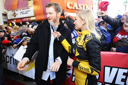 Dale Earnhardt Jr., Hendrick Motorsports Chevrolet with Miss Sprint Cup Brooke Werner