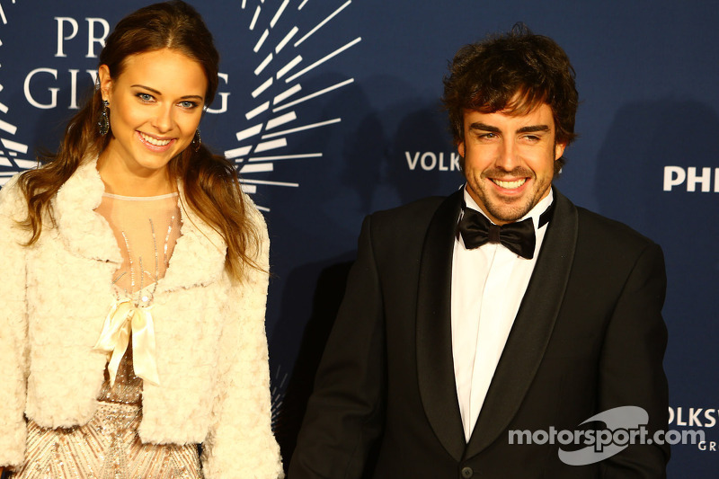 Fernando Alonso, Ferrari with his girlfriend Dasha Kapustina