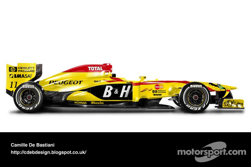 Formel-1-Auto im Retrodesign: Jordan 1997