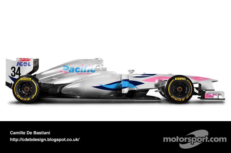 Formel-1-Auto im Retrodesign: Pacific 1994