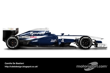 Retro F1 car - Tyrrell 1992