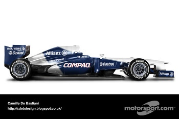 Retro F1 car - Williams 2001