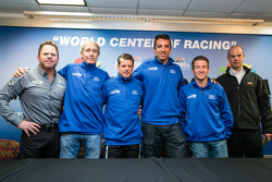 Michael Shank Racing press conference: Michael Shank, John Pew, Oswaldo Negri, Justin Wilson, A.J. Allmendinger