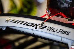 Tony Stewart name on the Stewart-Haas Racing Chevrolet