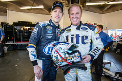 Rusty Wallace after his demo run with the #2 Team Penske Ford, with Brad Keselowski, Team Penske Ford
