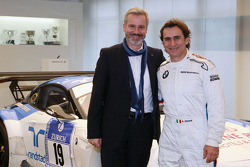 Jens Marquardt, head of BMW Motorsport and Alex Zanardi announce his return to racing with BMW