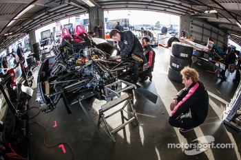 OAK Racing team members at work