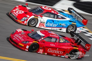 #99 GAINSCO / Bob Stallings Racing Corvette DP Chevrolet: Alex Gurney, Jon Fogarty, Darren Law, Memo Gidley and #02 Chip Ganassi Racing Riley DP Ford EcoBoost: Tony Kanaan, Kyle Larson, Marino Franchitti, Scott Dixon