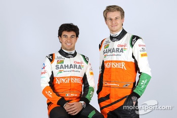Nico Hulkenberg and Sergio Perez, Sahara Force India F1