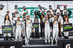 North American Endurance Cup podium: P class winners Wayne Taylor, Max Angelelli, Ricky Taylor, Jordan Taylor, GTLM class winners Nick Tandy, Richard Lietz, Patrick Pilet, PC class winners Jon Bennett, Colin Braun, Mark Wilkins, James Gue