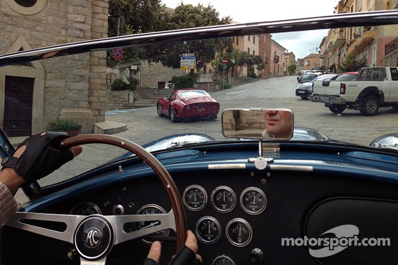 Adrian Newey drives in Sardinia