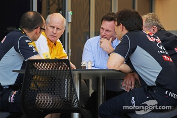 Christian Horner, Red Bull Racing Team Principal in a meeting