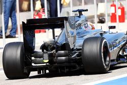 Kevin Magnussen, McLaren MP4-29 rear wing detail