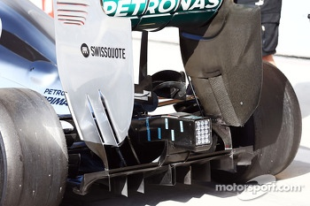 Mercedes AMG F1 W05 temperature sensors below the exhaust