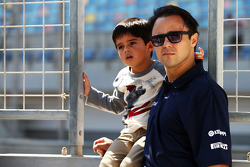 Felipe Massa, Williams with his son Felipinho