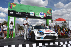Winners Sébastien Ogier and Julien Ingrassia, Volkswagen Polo WRC, Volkswagen Motorsport