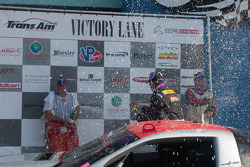 R.J. Lopez, Simon Gregg and Cliff Ebben celebrate on the podium