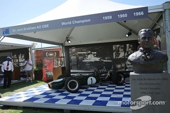 A display for three time World Champion Sir Jack Brabham (AUS)