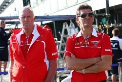 John Booth, Marussia F1 Team Team Principal with Graeme Lowdon, Marussia F1 Team Chief Executive Officer