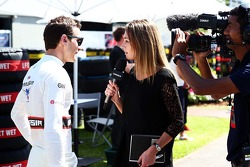 Jules Bianchi, Marussia F1 Team with the media