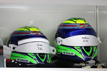 Helmets of Felipe Massa, Williams F1 Team