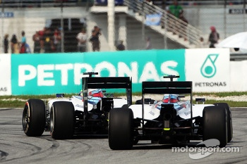 Felipe Massa, Williams FW36 leads team mate Valtteri Bottas, Williams FW36