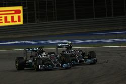 Lewis Hamilton, Mercedes AMG F1 W05 and Nico Rosberg, Mercedes AMG F1 W05
