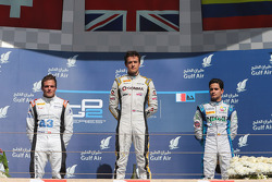 Race winner Jolyon Palmer, second place Simon Trummer, third place Julian Leal
