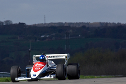 Damon Hill drives Ayrton Senna's Toleman TG184