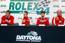 Ferrari North America press conference: President and CEO at Ferrari North America Marco Mattiacci, Alessandro Balzan, Giancarlo Fisichella, Jon Becker