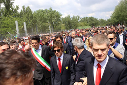 Commemoration ceremony at the Tamburello curve, Fernando Alonso