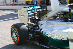 Nico Rosberg, Mercedes AMG F1 W05 rear wing