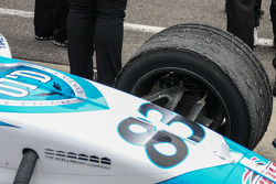 Race winner Matthew Brabham's worn rain tires