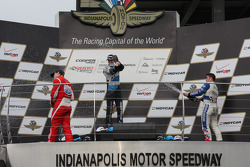 INDYLIGHTS: Podium: race winner Matthew Brabham, second place Luiz Razia, third place Jack Harvey