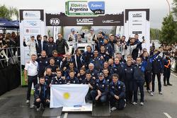 Team Volkswagen at the podium