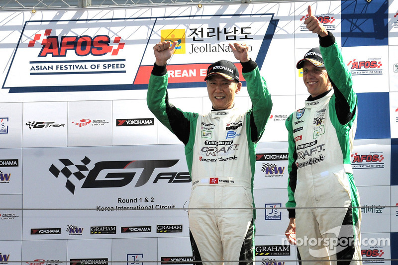 Podium for Frank Yo and Warren Luff