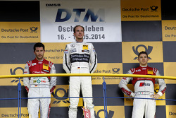 Podium, 2nd Mike Rockenfeller, Audi Sport Team Phoenix Audi RS 5 DTM, 1st Christian Vietoris, Mercedes AMG DTM-Team HWA DTM Mercedes AMG C-Coupe, 3rd Edoardo Mortara, Audi Sport Team Abt Audi RS 5 DTM