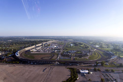 View of Indianapolis Motor Speedway from Kurt Busch's helicopter
