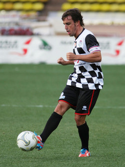 Fernando Alonso, Ferrari at the charity football match