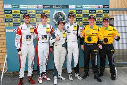 Podium: race winners Dominik Baumann, Claudia Hurtgen, second place Kelvin van der Linde, Rene Rast, third place Martin Ragginger, Jaap van Lagen