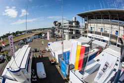 Le Mans paddock overview: Toyota Racing paddock area